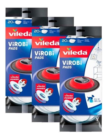 Paquete 4 Repuesto Mop Limpiador Robot Virobi Slim Vileda