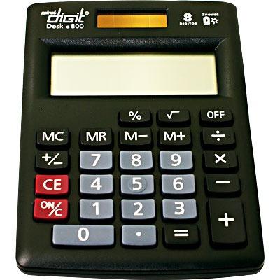 Calculadora De Mesa Bateria E Solar Com 8 Dígitos Preta