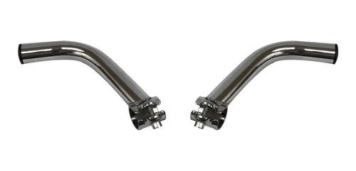Imagen 1 de 4 de Cuernos Descansabrazos Para Manubrio Bicicleta Onzas Cromado