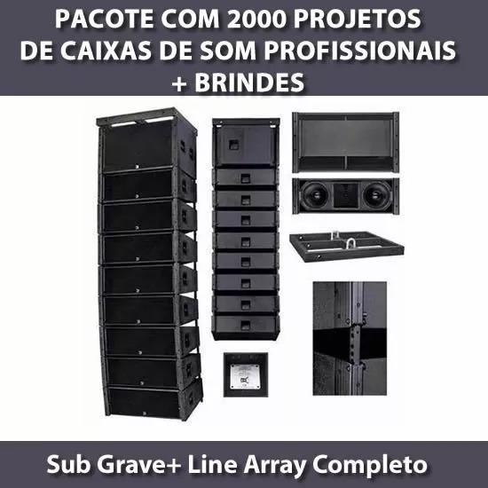 2000 Projetos Caixa De Som (sub Grave + Line Array) Completo