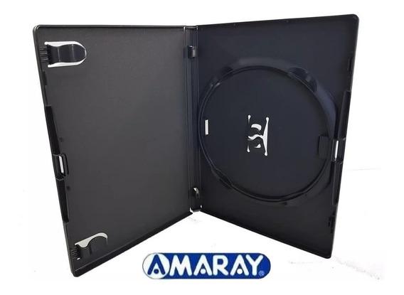 10 Capa Caixinha Dvd Amaray Ou Pack - Preto