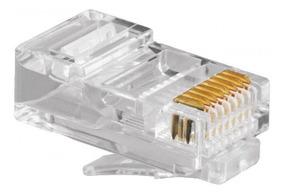 Pacote C/ 100 Conectores Rj-45 Cat5e ! Rj45 É Networkbox