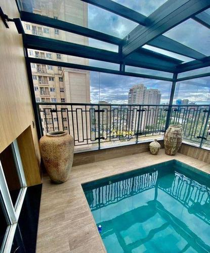 Imagem 1 de 23 de Cobertura Com 3 Dormitórios À Venda, 164 M² Por R$ 1.900.000 - Edifício Alpha Park - Barueri/sp - Co0011