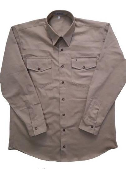 Camisa All Brazil Plus Size Brim 2 Bolsos 100% Algodão