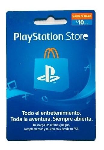 Imagen 1 de 1 de Playstation Card Psn $10 Usd Saldo Para Cuentas De Mexico
