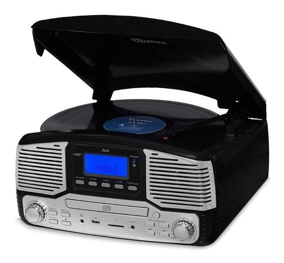 Toca Disco Jazz Harmony Vitrola Cd Gravação Bluetooth Fm Brinde