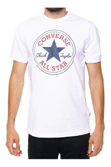 Converse Remera M/c Lifestyle Hombre Pach Blanco
