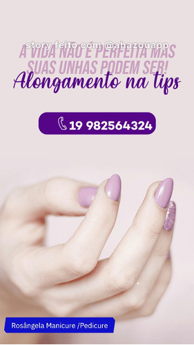 Manicure E Pedicure E Alongamento De Unhas Agende Já