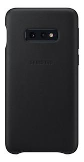 Capa Protetora Samsung Galaxy S10e Couro Preto