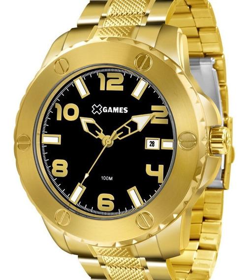 Relógio X-games Masculino Dourado -xmgs1026 P2kx