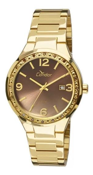 Relógio Condor Feminino Co2115up/k4m Dourado Original Nfe