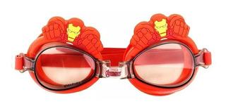 Óculos Natação Infantil Piscina Homem De Ferro Vingadores 3d