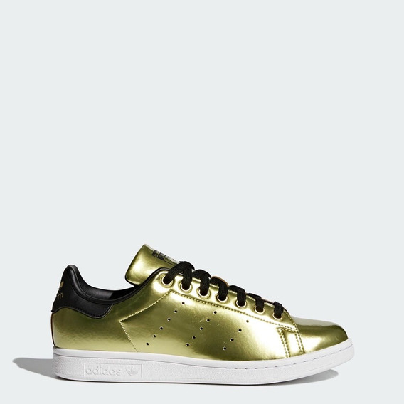 Tenis adidas Stan Smith Oro Mujer Casuales Moda Gym Gold
