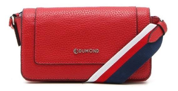 Bolsa Feminina Transversal Dumond Pesponto Vermelha 485160