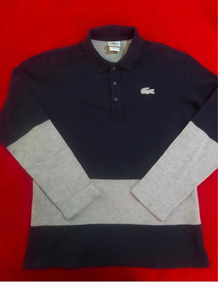 Playera Lacoste 100% Original Tipo Polo Talla L/ No Polo