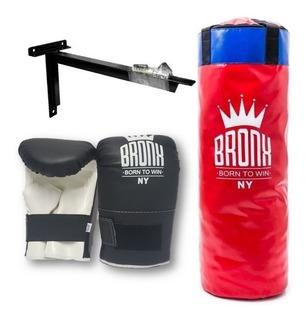 Bolsa De Boxeo Relleno 0.90 Mts + Guantines Kickboxing