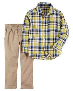 Conjunto 2 Peças Camisa Xadrez E Calça - 18m