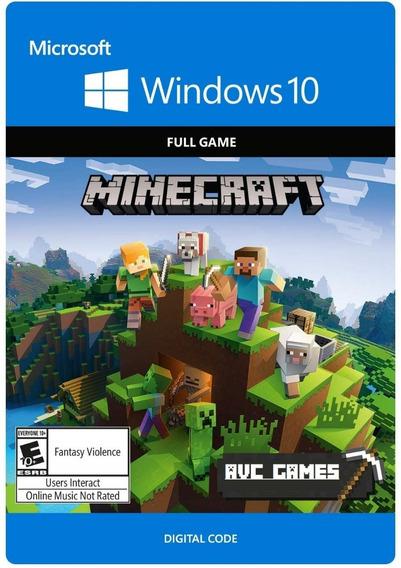 Key Minecraft Windows 10 Edition Pc Original 25 Dígitos