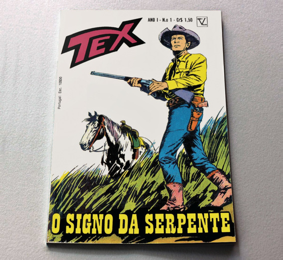 Tex 1 Primeira Edição Editora Vecchi - 1971 - Facsimile