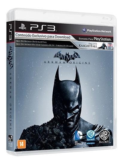 Batman Arkham Origens Ps3 Mídia Física Novo