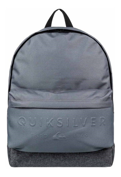 Mochila Quiksilver Everyday Poster Embossed Cinza
