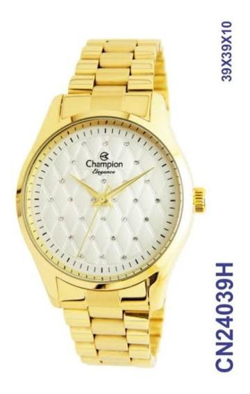 Relógio Champion Feminino Dourado Cn24039h