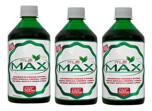 Imagem 1 de 3 de 3 Multi Max - Amargo Digestivo E Vitaminas - 500 Ml