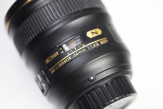 Lente Nikon F/1.4 Afs Ed/ 24mm Nano Crystal/ Perfeita.