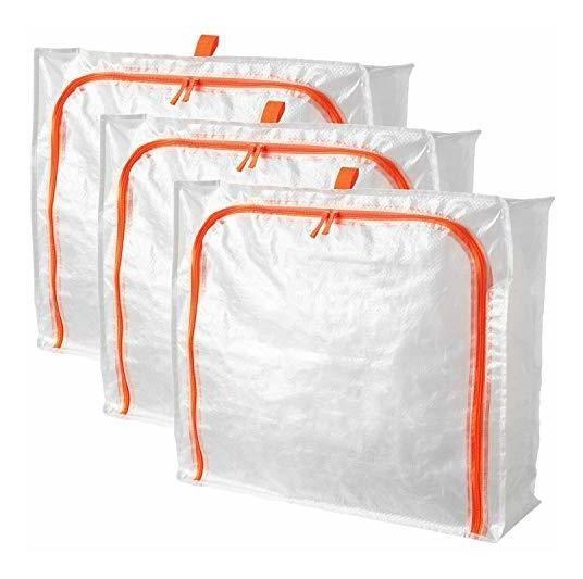 Prkla Ikea Bolsas De Almacenamiento, 3 Unidades, Caja De Alm