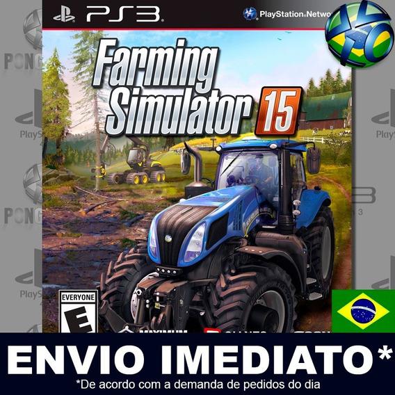 Farming Simulator 15 Ps3 Psn Legendas Português Br Promoção
