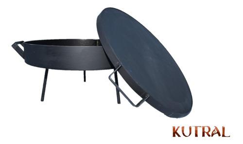Disco - Paellera De 48cm C/ Tapa Bífera 49cm Kutral