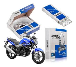 Kit Relação Trasmissão Riffel Yamaha Ys 250 Fazer 2006-2016