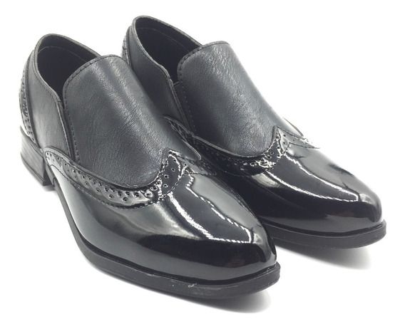Zapatos Mocasín Cerrados Mujer Bajos Negros Invierno Charol