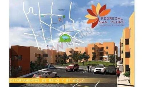 Departamento Nuevo De 3 Recámaras A 5 Minutos De Plaza Del Parque, Pedregal San Pedro.