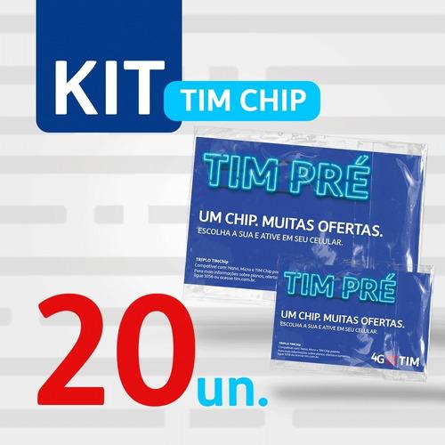 Imagem 1 de 2 de Kit 20 Tim Chip