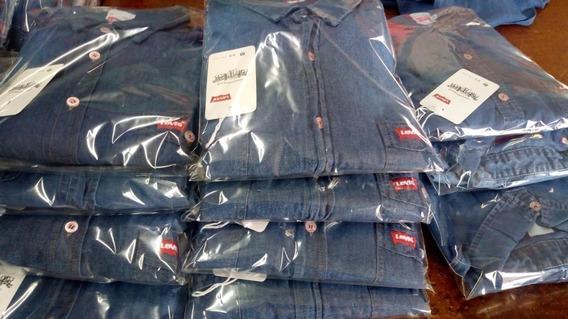 12 Camisas De Mezclilla Mayoreo Buena Calidad Docena