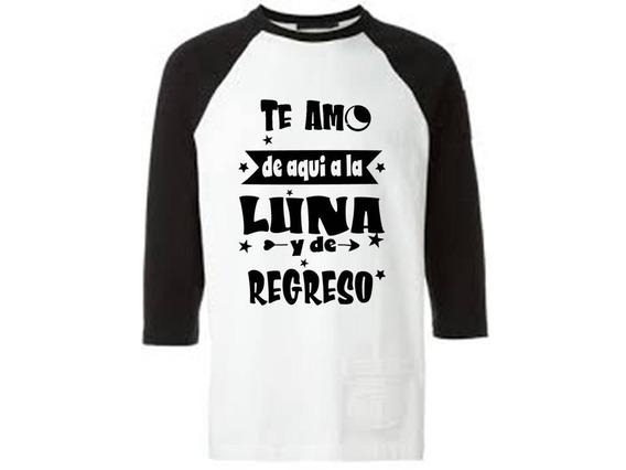 Playera Manga 3/4 Combinada - Luna Y De Regreso - 1