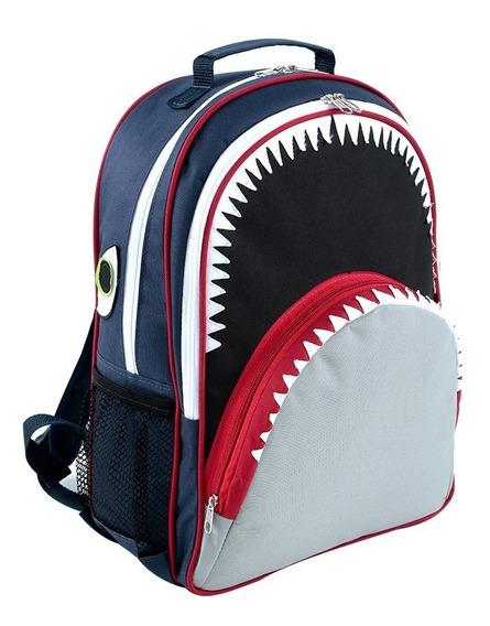 Mochila Escolar Infantil Tubarão Forrada Mumagi