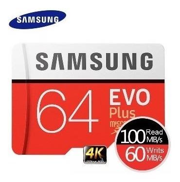 Cartão Memoria Samsung Micro Sd Evo Plus 64gb J5 J7