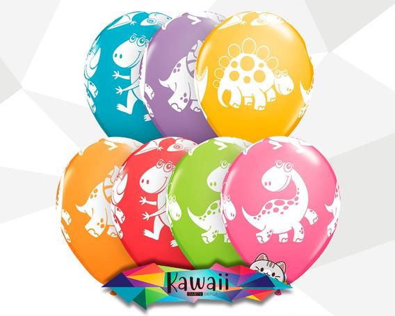 10 Piezas - Globo De Dinosaurio 10 Piezas - Látex Colores