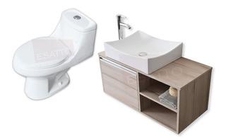 Esatto® Kit Sanitario+mueble Dduc Elige Lavabo Espejo Gratis