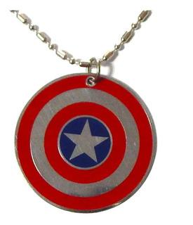 Capitan America Dije Collar Escudo Steve