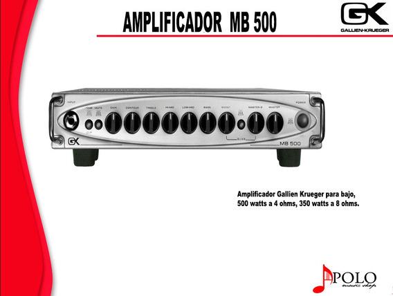 Amplificador Gk P/bajo Mb 500