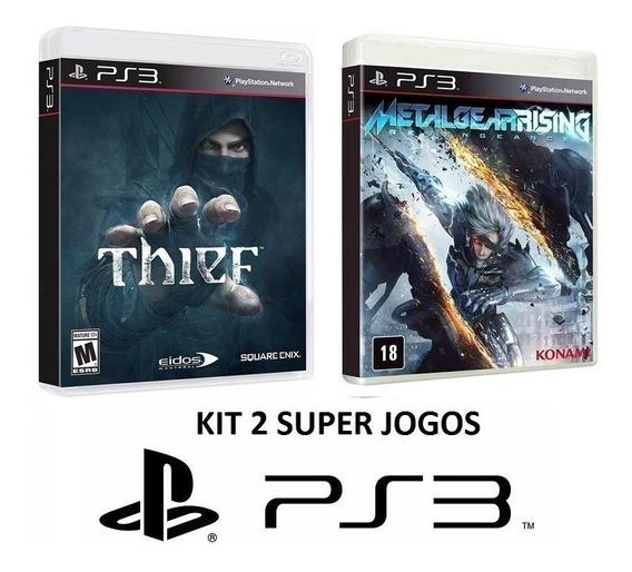 Thief + Metal Gear Rising - Midia Fisica Lacrado - Ps3