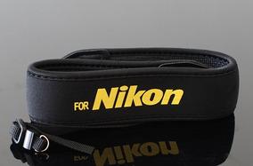 Correia Alça Nikon Pescoço Mirrorles \ Dslr Câmera Neoprene