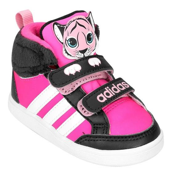 Tênis adidas Hoops Animal Cmf Mid Infantil Original