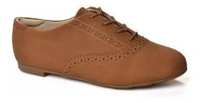 Sapato Modare Feminino Nobuck Soft - Camel