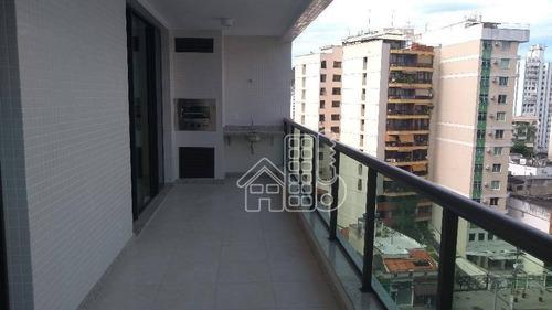Apartamento Com 2 Dormitórios À Venda, 82 M² Por R$ 600.000,00 - Santa Rosa - Niterói/rj - Ap1683