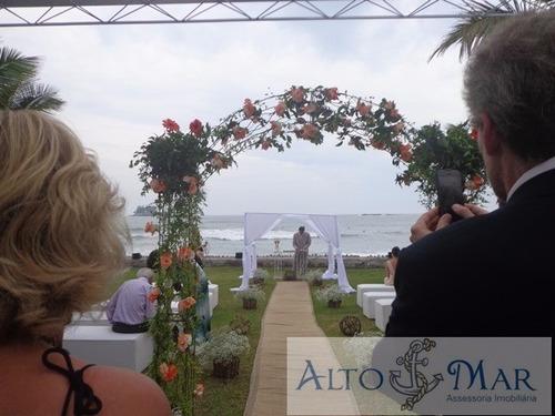Imagem 1 de 18 de Casa Para Eventos Pé Na Areia - Guarujá - Ca00012 - 3159283
