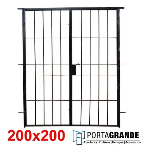 Imagen 1 de 5 de Reja Para Ventana 200x200 Barrote Hierro Del 12